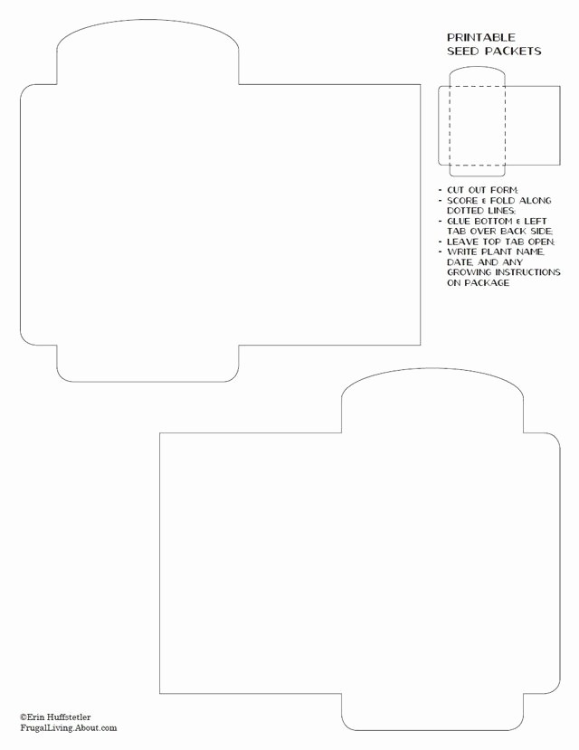 Personal P&l Template Best Of Blank Seed Packet Template Printable Blank Seed Packet