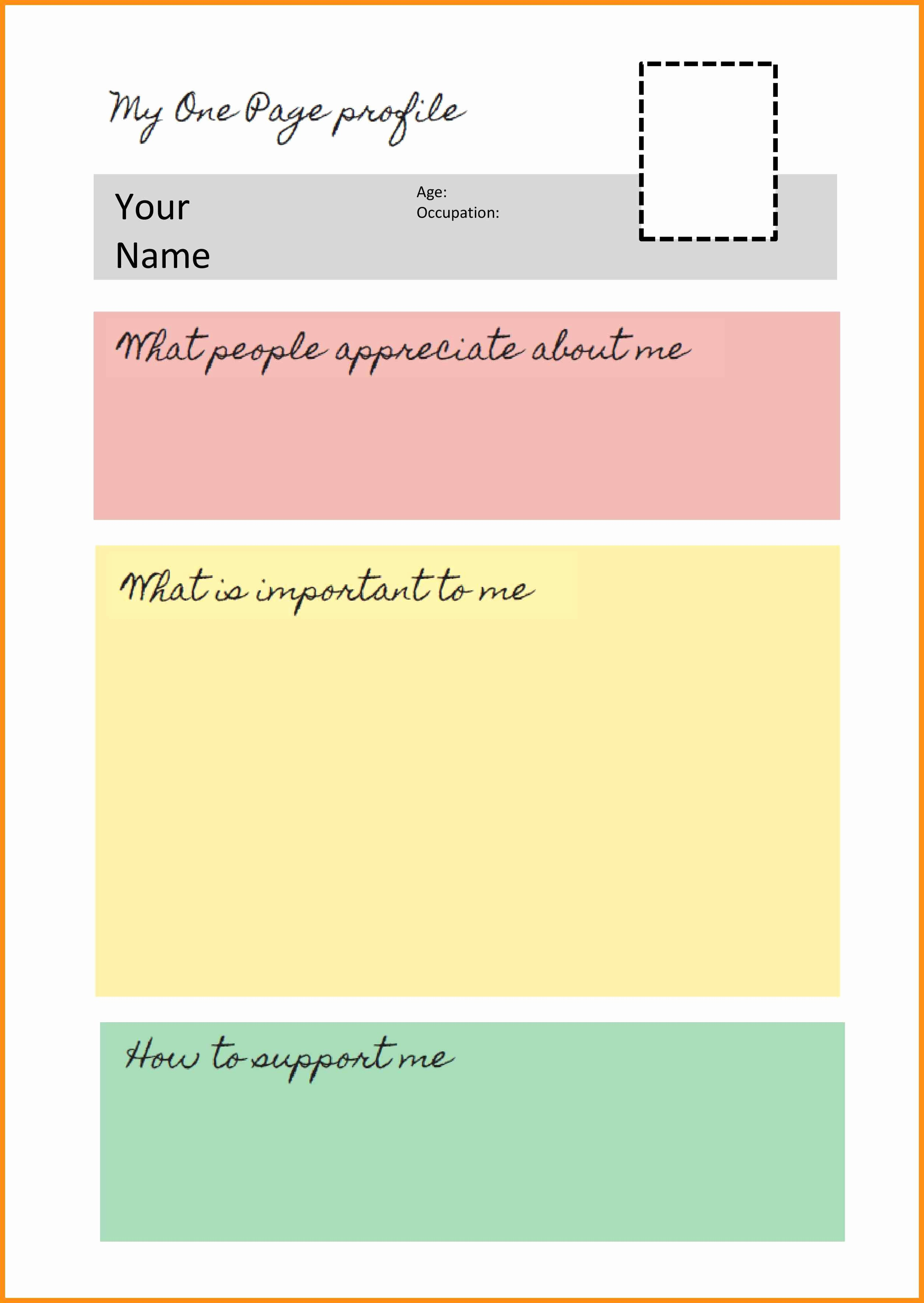 Personal P&l Template Best Of Personal Profile Template Word