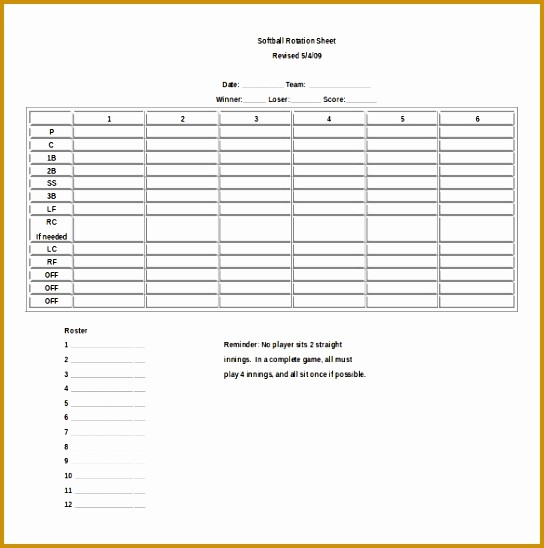 Personal P&l Template Elegant 7 Ms Excel Baseball Score Sheet Template