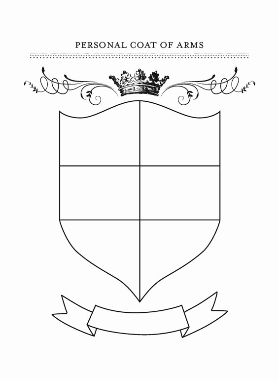 Personal P&l Template Lovely Free Printable Coat Of Arms Template Homeschool Giveaways
