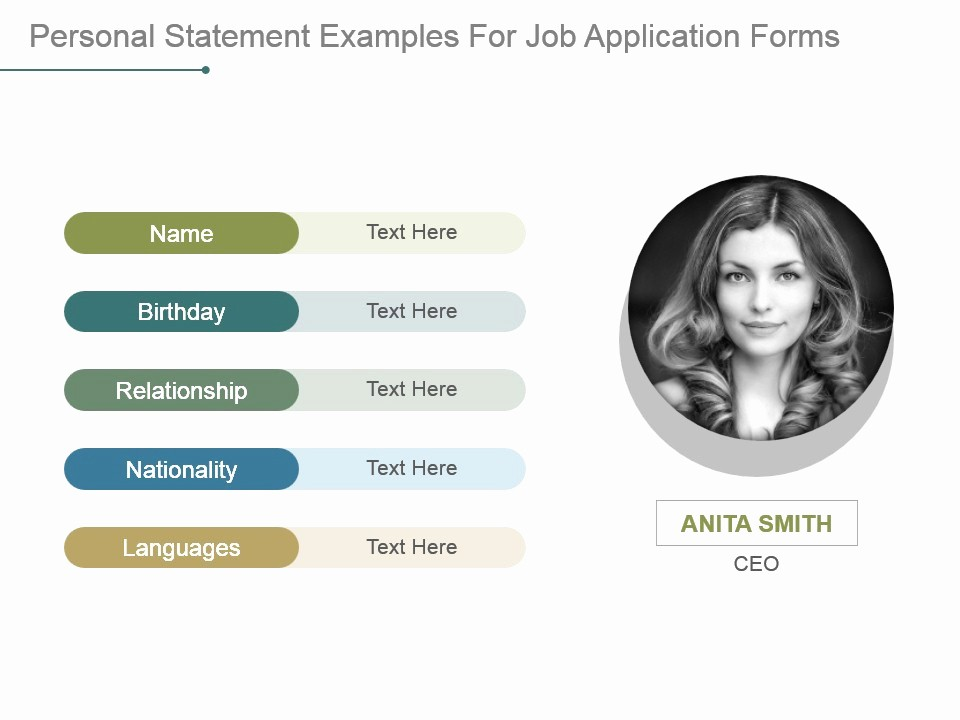 Personal P&l Template New Personal Statement Examples for Job Application forms