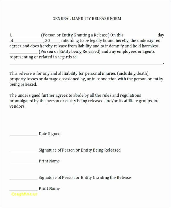 Personal P&l Template Unique Property Damage Release form Template Printable Release