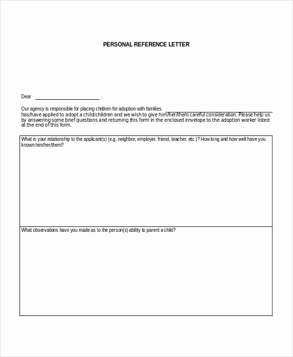 Personal Reference Letter Template Free Awesome Personal Reference Letter for A Job Sample Personal