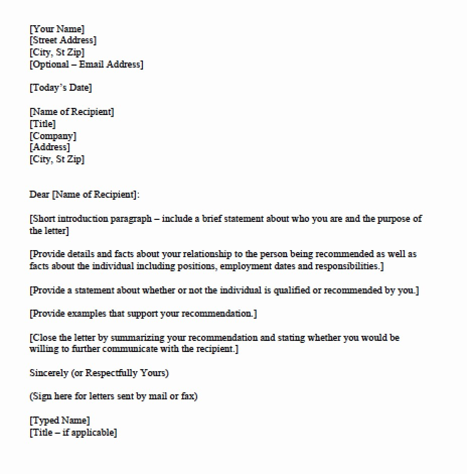 Personal Reference Letter Template Free Beautiful Download Personal Character Reference Letter Templates