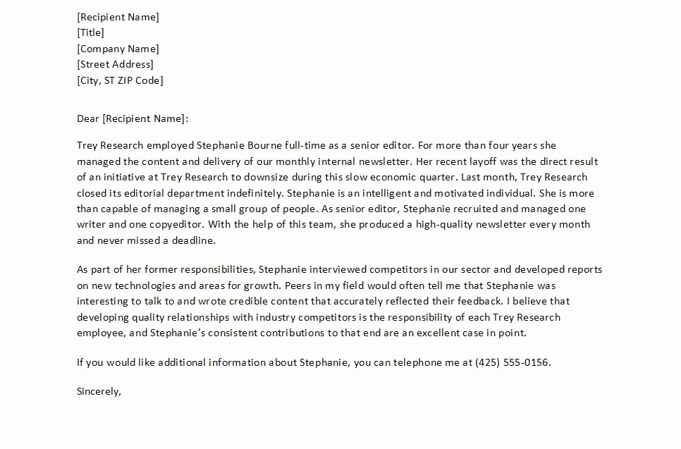 Personal Reference Letter Template Free Best Of Letter Re Mendation Template Free