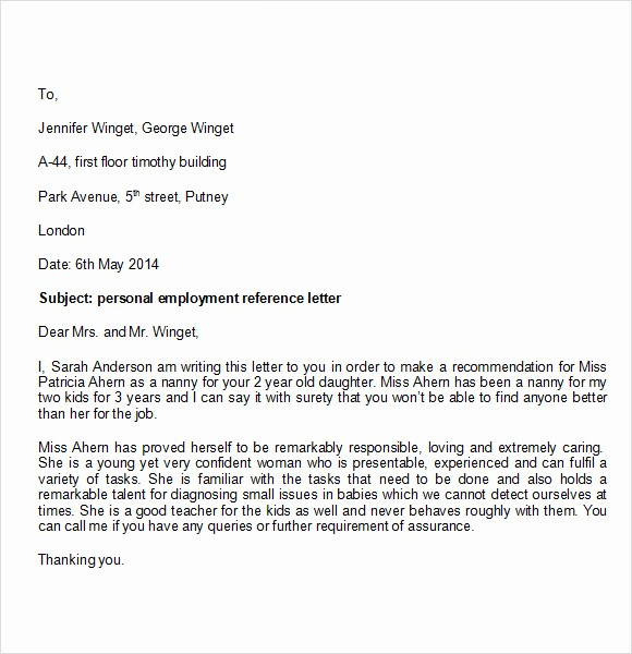 Personal Reference Letter Template Free Best Of Personal Character Reference Letter Template to
