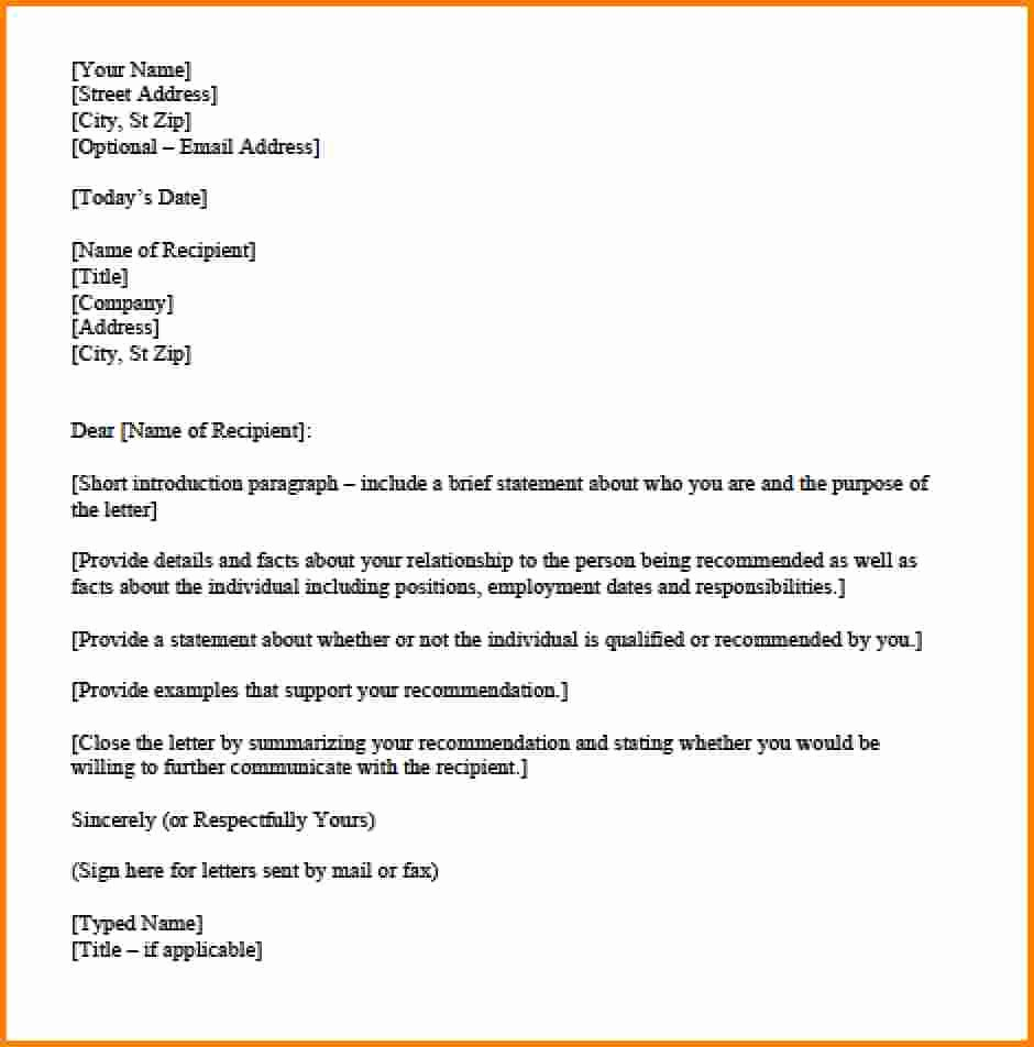 Personal Reference Letter Template Free Lovely Donation Letter Template