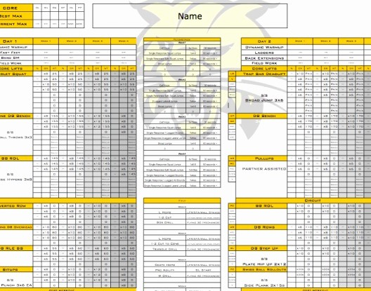 Personal Training Workout Log Template Inspirational Free Personal Training Excel Templates Personal Trainer