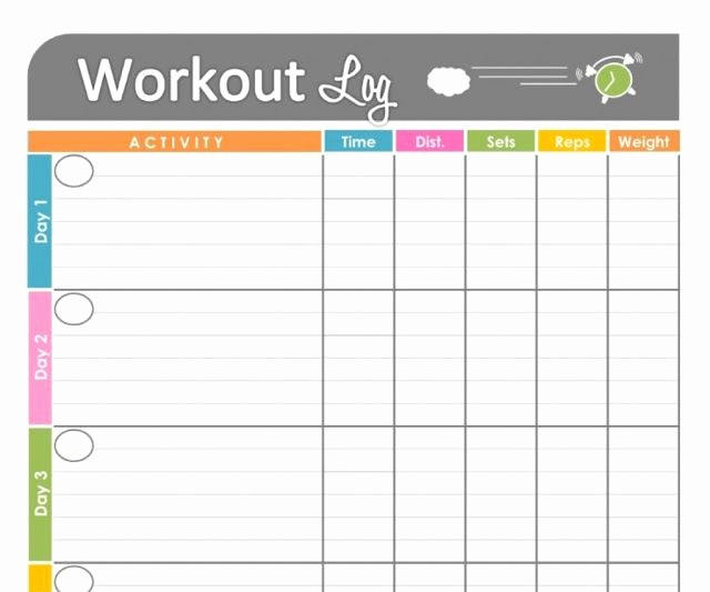 Personal Training Workout Log Template Lovely 14 Best Workouts Log Templates Images On Pinterest