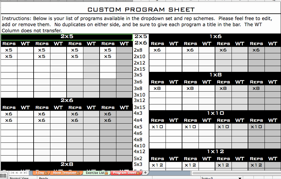 Personal Training Workout Log Template New Daily Workout Logs for Personal Trainers