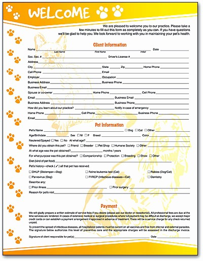 Pet Sitting Client Information form Elegant 87 Dog Grooming Client Information Sheet Please Print
