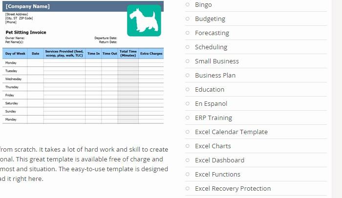 Pet Sitting Client Information form Luxury 7 Pet Sitting Invoice Template
