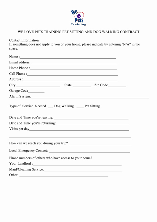 Pet Sitting Contract Template Free Elegant top Pet Sitting Contract Templates Free to In Pdf