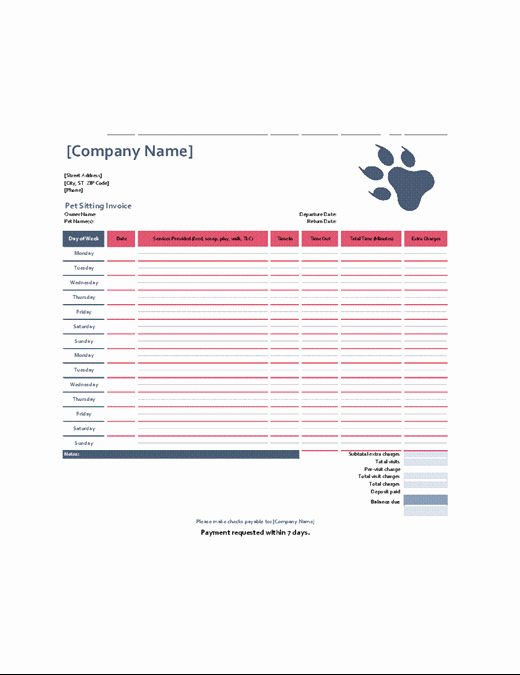 Pet Sitting Contract Template Free Luxury orders Fice
