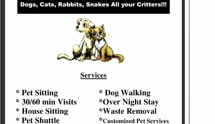 Pet Sitting Contract Template Free New 5 Pet Sitting Flyer Templates