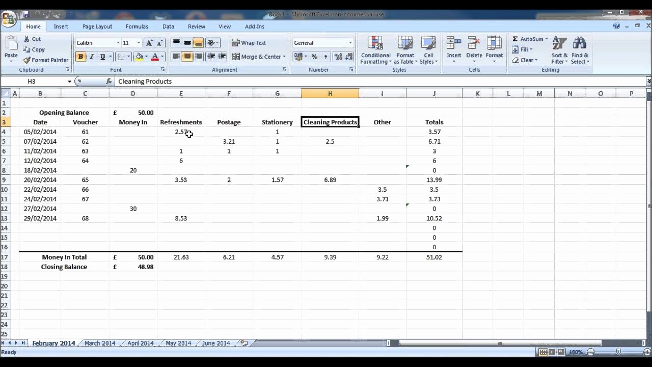 Petty Cash Balance Sheet Template Beautiful How to Create A Petty Cash Account Using Excel Part 1