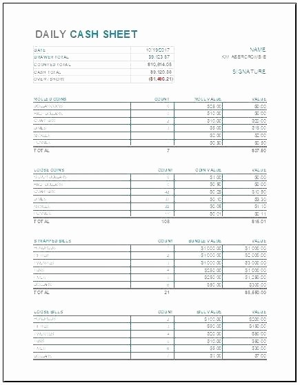 Petty Cash Balance Sheet Template New Petty Cash Float Reconciliation Template Daily Register