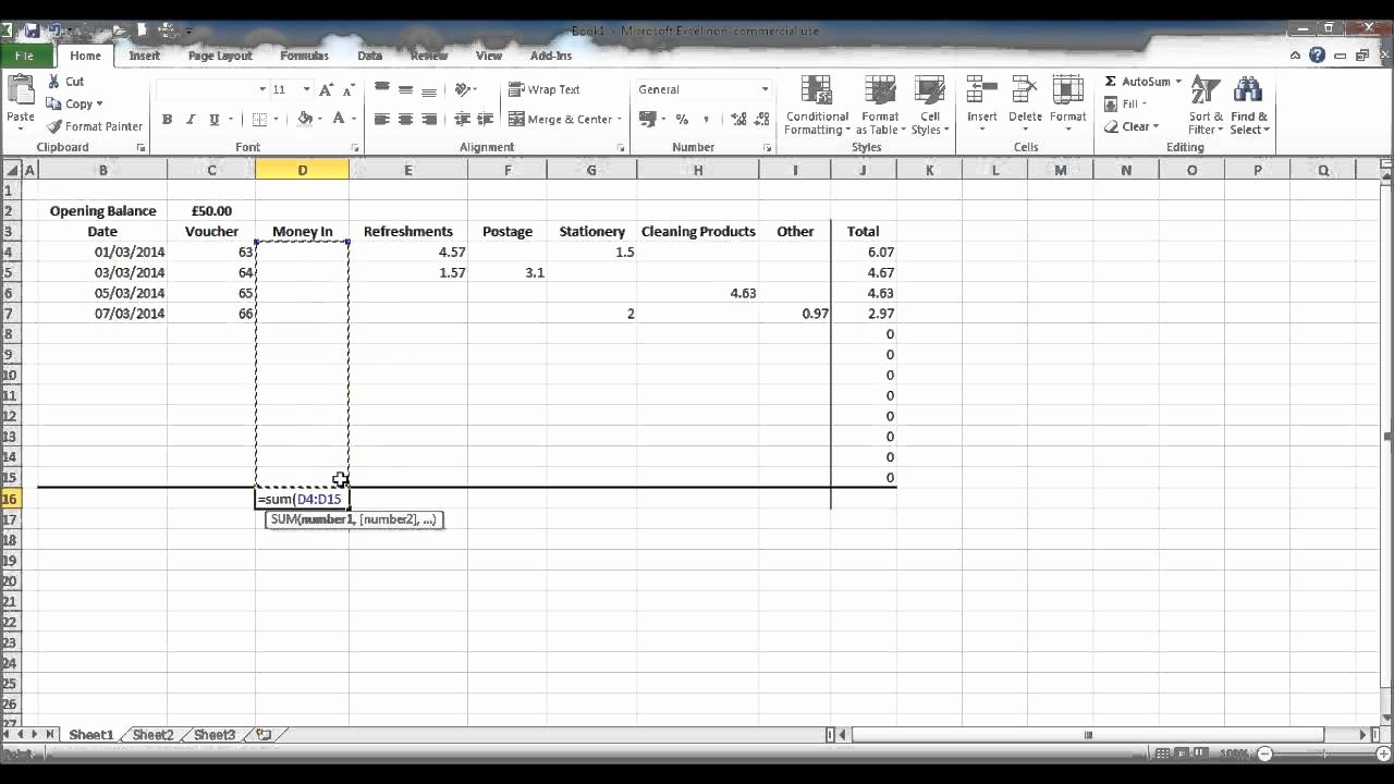 Petty Cash format In Excel Lovely How to Create A Petty Cash Spread Sheet Using Excel Part 3