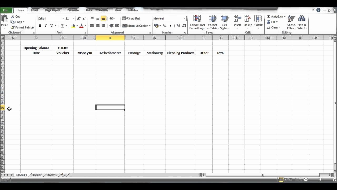 Petty Cash format In Excel New How to Create A Petty Cash Template Using Excel Part 2