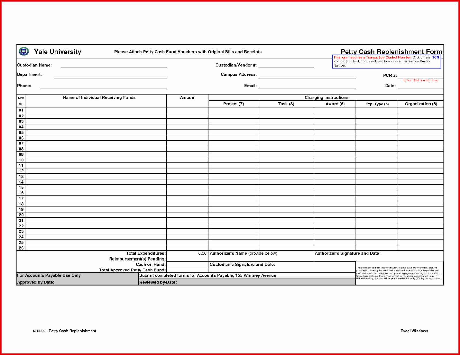 Petty Cash format In Excel New Petty Cash Log Excel Download Templates Excel Template
