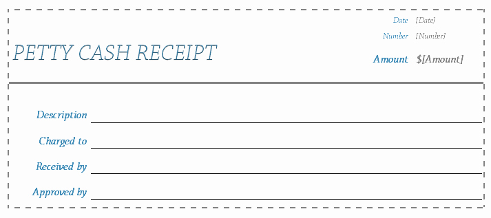 Petty Cash Receipt Template Free Awesome Receipt Template Blank Receipts for Word