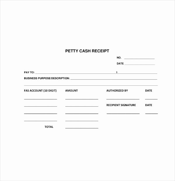 Petty Cash Receipt Template Free Best Of 8 Petty Cash Receipt Template Pdf