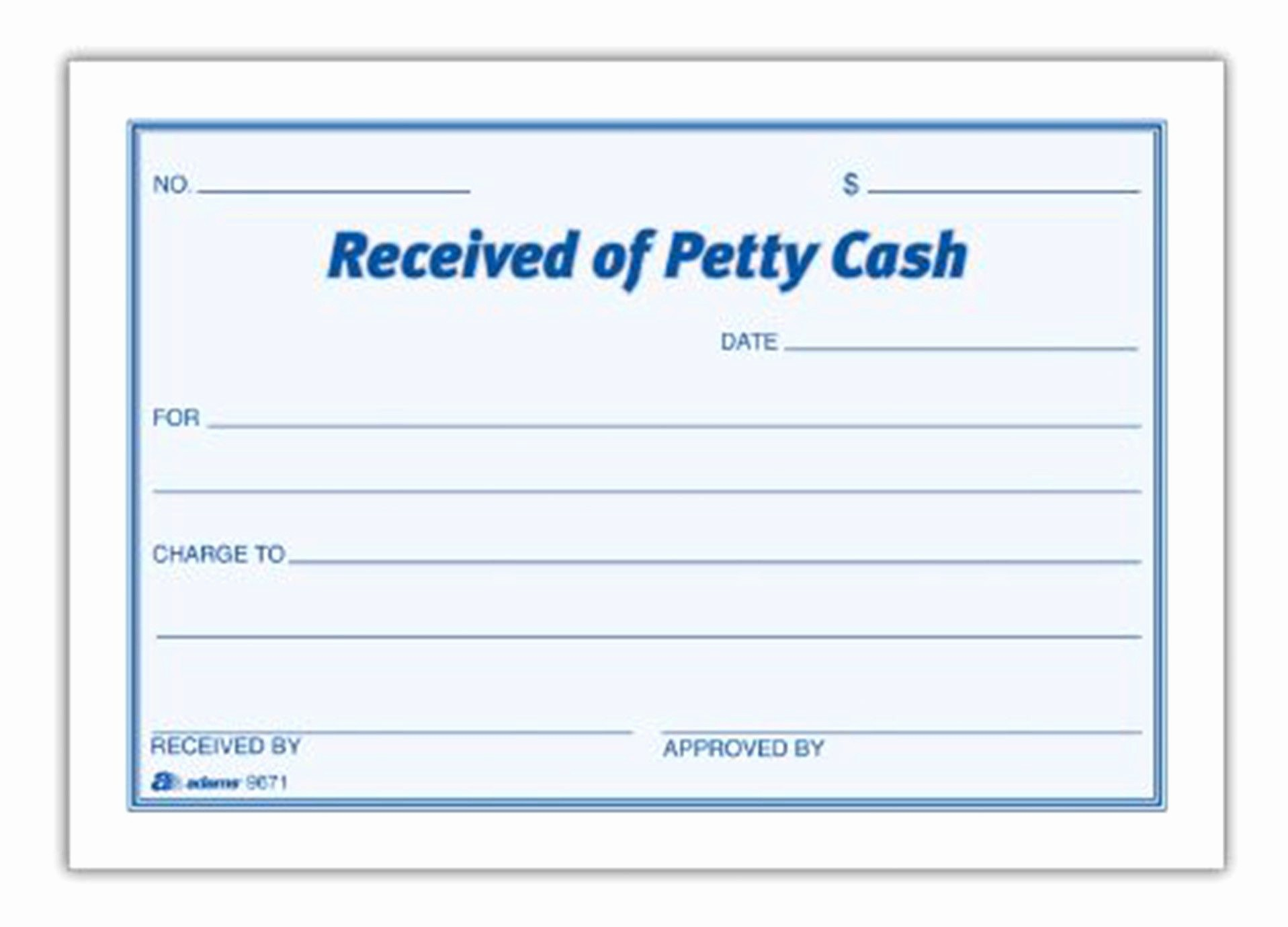 Petty Cash Receipt Template Free Luxury Petty Cash Receipt Pad Set Of 16 Accounting