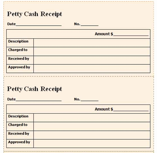 Petty Cash Receipt Template Free New Petty Cash Templates Microsoft Word Templates