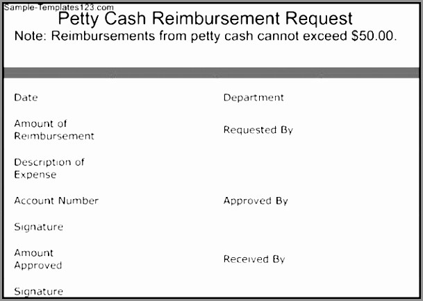 Petty Cash Request form Template Inspirational 5 Petty Cash Reimbursement form Template Itpic
