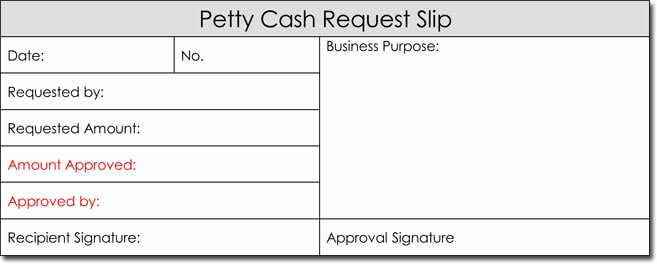 Petty Cash Request form Template Luxury Petty Cash Receipt Templates 6 formats for Word