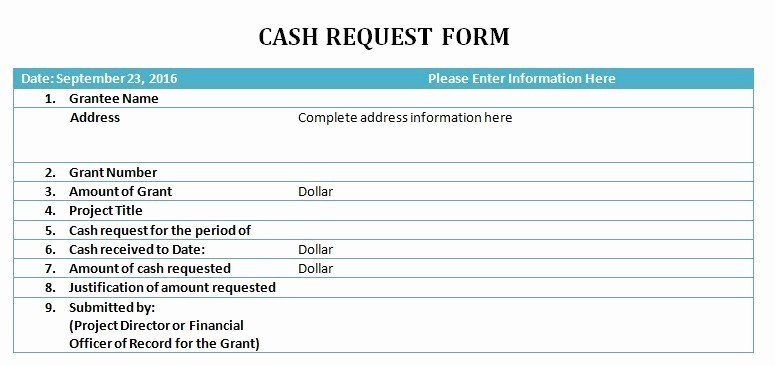 Petty Cash Request form Template New Cash Request Slip Template Excel Pdf formats