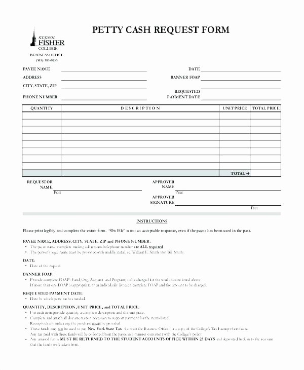 Petty Cash Request form Template Unique Petty Cash Request form Ideasplataforma