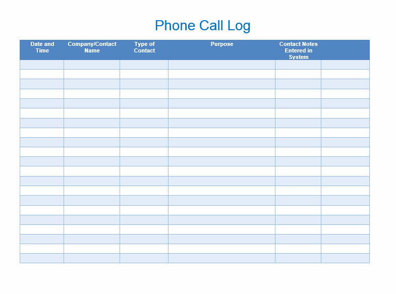 Phone Call Log Template Free Unique Sales Call List Templates 5 Free Templates Word Templates