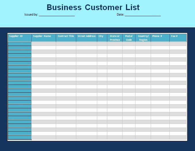 Phone List Template for Word Awesome Customer List Template