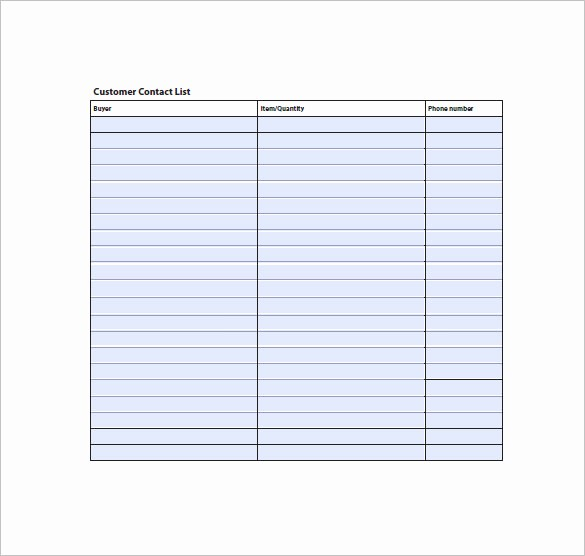 Phone List Template for Word Elegant Contact List Template 10 Free Word Excel Pdf format