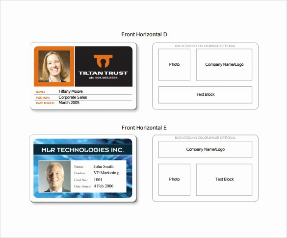 Photo Id Template Free Download Awesome Id Card Template Free Download Templates Data
