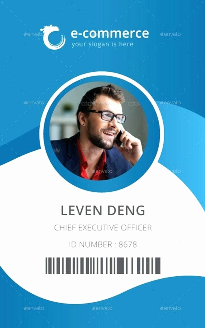 Photo Id Template Free Download Awesome Microsoft Employee Id Badge Template for – Picks