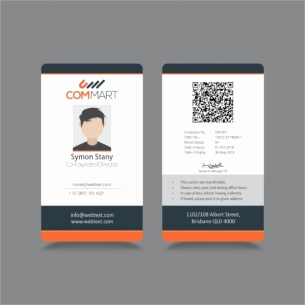 Photo Id Template Free Download Beautiful 21 Id Cards