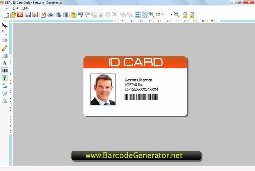 Photo Id Template Free Download Beautiful Employee Id Card Template Microsoft Word Free