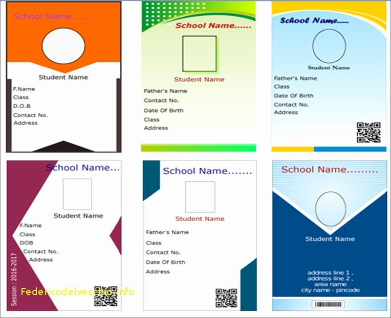 Photo Id Template Free Download Beautiful School Id Template Free Download Templates Collections
