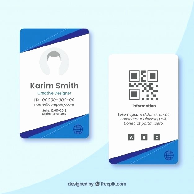 Photo Id Template Free Download Elegant Identification Card Template Publisher Id Cards Sample