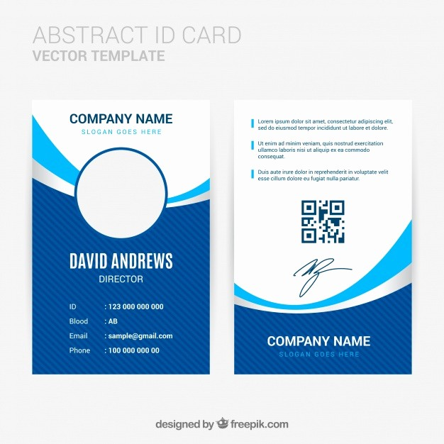 Photo Id Template Free Download Fresh Abstract Id Card Template with Flat Design Vector