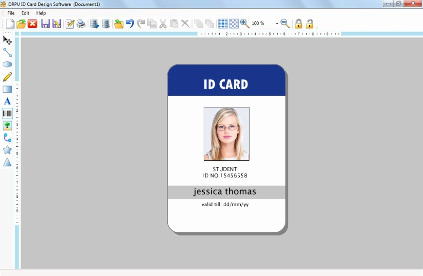 Photo Id Template Free Download Fresh Id Card Template