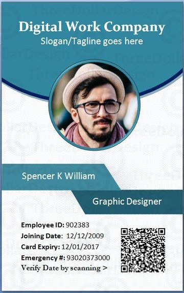 Photo Id Template Free Download Lovely Employee Card format In Word