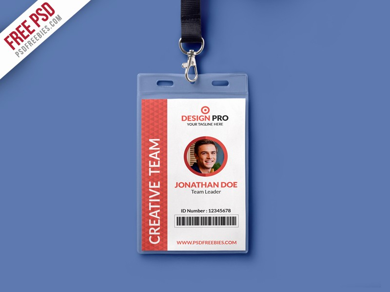 Photo Id Template Free Download Lovely Free Psd Fice Identity Card Template Psd by Psd