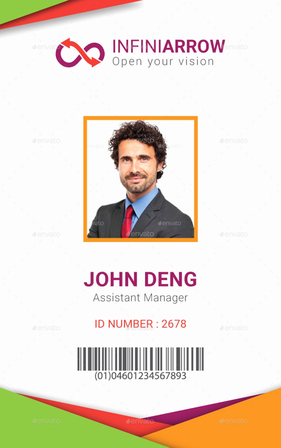 Photo Id Template Free Download Lovely Work Id Card Template Beautiful Template Design Ideas