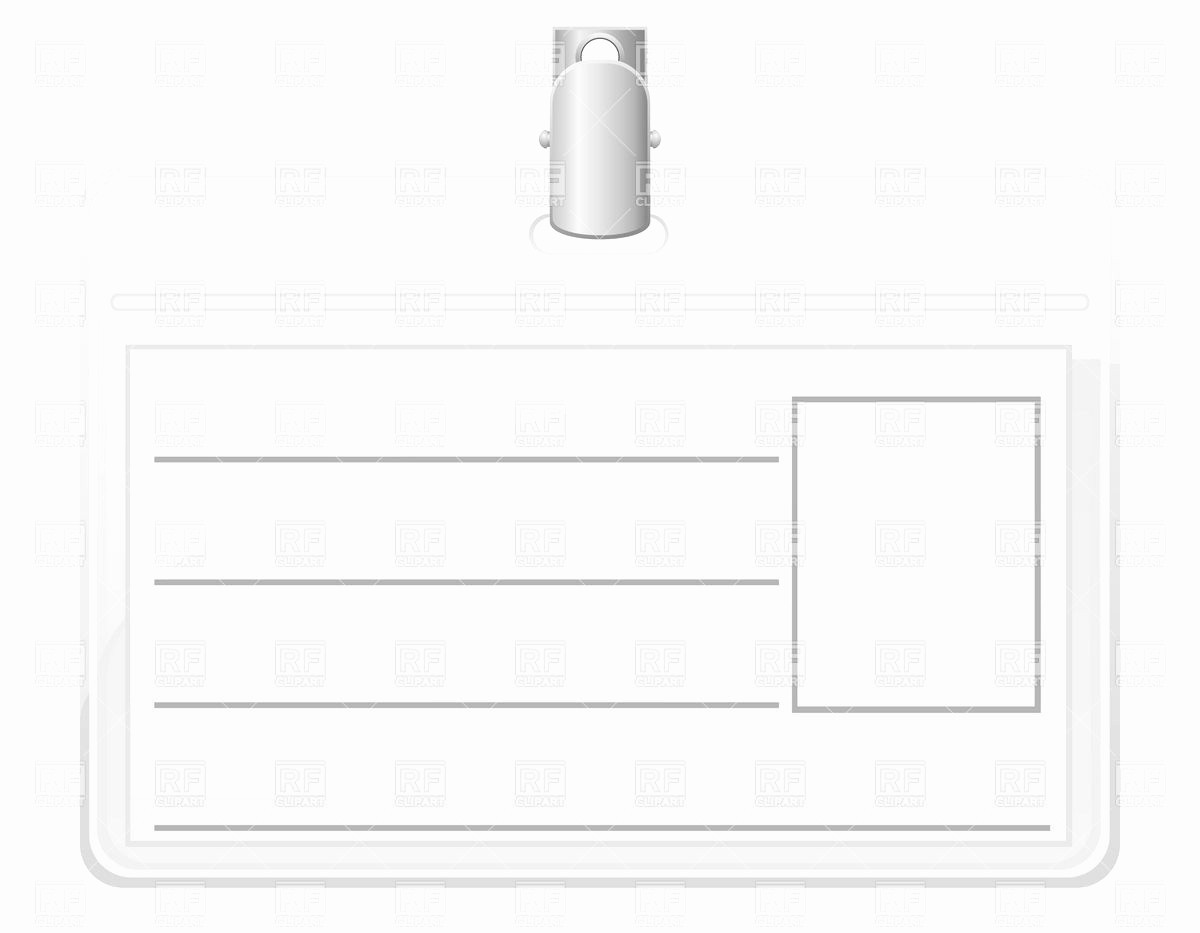 Photo Id Template Free Download Luxury Blank Id Badge Template to Pin On Pinterest
