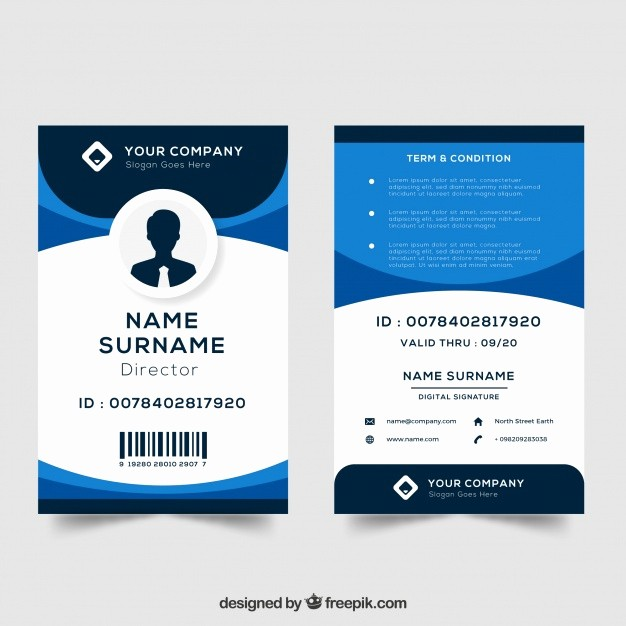Photo Id Template Free Download New Id Card Template Vector