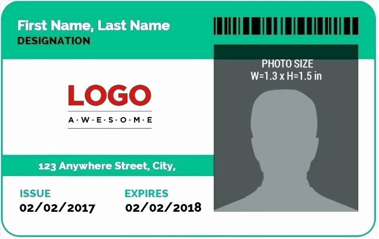 Photo Id Template Free Download New Student Id Card Template Word Ms Word Id Badge