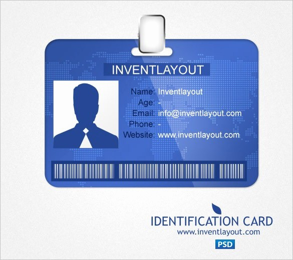 Photo Id Template Free Download Unique 29 Id Card Templates Psd